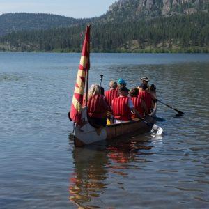 Vaseux Lake Voyageur Canoe