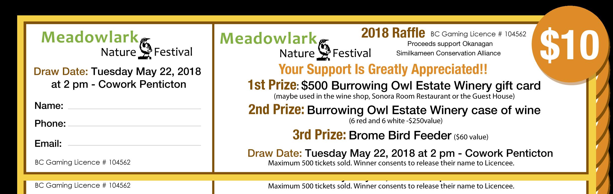 raffle tickets meadowlark nature festivalmeadowlark nature festival