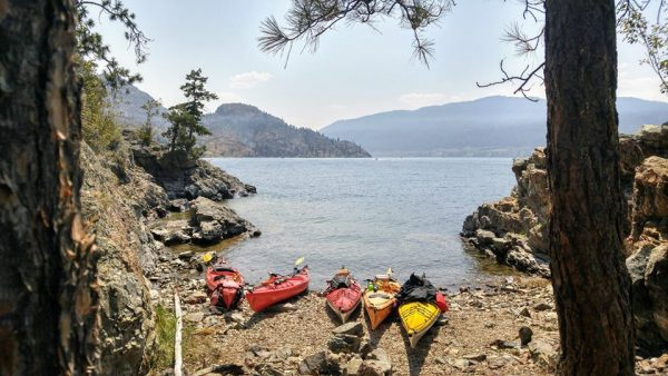 Rattlesnake Island beach with kayaks